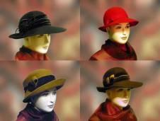 Női kalapok nagy választékban kaphatóak a Pázmányi kalapszalonban