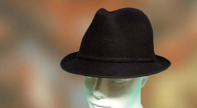 52449e31a4 Fekete kis karimás nyúlszőr férfi kalap divat forma olcsó ...