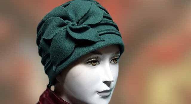 Zöld divatos gyapjú téli női sapka - Kalapszalon kalapok sapkák nagy ... 7414f752a4