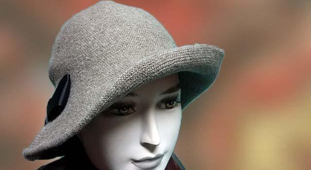 Drapp kötött női kalap - Kalapszalon kalapok sapkák nagy ... f374e81429