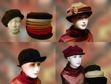 Női sapkák nagy választékban kaphatóak a Pázmányi kalapszalonban